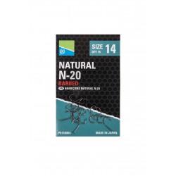 Hameçons Natural N20 à ardillons