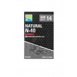 Hameçons Natural N40 à ardillons