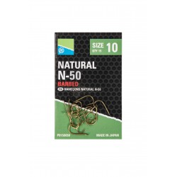 Hameçons Natural N50 à ardillons